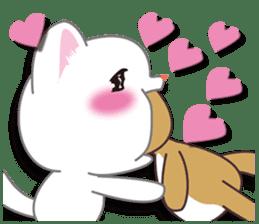 I want to hug a cat cute International sticker #7391026