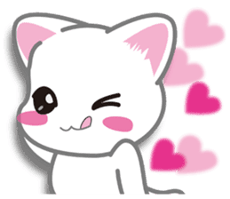 I want to hug a cat cute International sticker #7391029