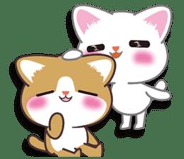 I want to hug a cat cute International sticker #7391044