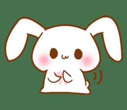 Moonlit night Child rabbit. fluffy! sticker #7396652