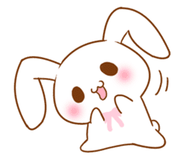 Moonlit night Child rabbit. fluffy! sticker #7396653