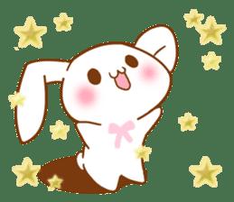 Moonlit night Child rabbit. fluffy! sticker #7396657