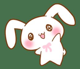 Moonlit night Child rabbit. fluffy! sticker #7396659