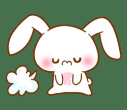 Moonlit night Child rabbit. fluffy! sticker #7396662