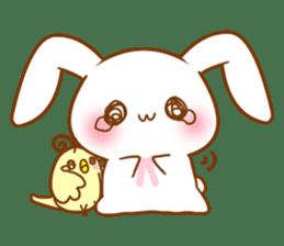 Moonlit night Child rabbit. fluffy! sticker #7396663