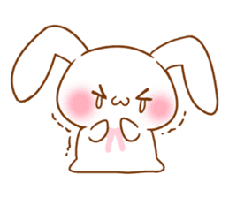 Moonlit night Child rabbit. fluffy! sticker #7396664