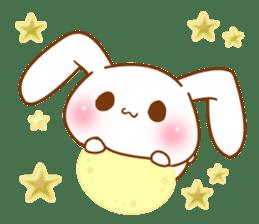 Moonlit night Child rabbit. fluffy! sticker #7396666