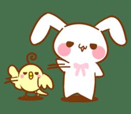 Moonlit night Child rabbit. fluffy! sticker #7396668