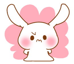 Moonlit night Child rabbit. fluffy! sticker #7396669