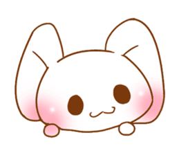 Moonlit night Child rabbit. fluffy! sticker #7396670
