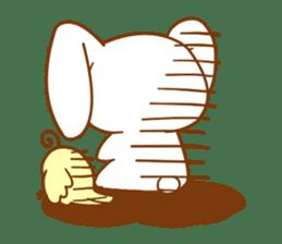 Moonlit night Child rabbit. fluffy! sticker #7396671