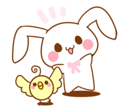 Moonlit night Child rabbit. fluffy! sticker #7396677