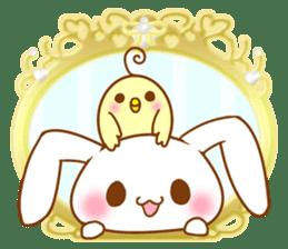 Moonlit night Child rabbit. fluffy! sticker #7396681