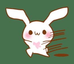 Moonlit night Child rabbit. fluffy! sticker #7396682