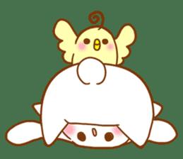 Moonlit night Child rabbit. fluffy! sticker #7396683
