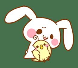 Moonlit night Child rabbit. fluffy! sticker #7396685