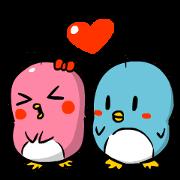 สติ๊กเกอร์ไลน์ Lovely couple penguins - 'ALPENG' Ver 2