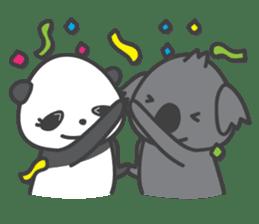 Koala & Panda sticker #7404117