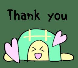 Kamechan's Message  English version sticker #7412919