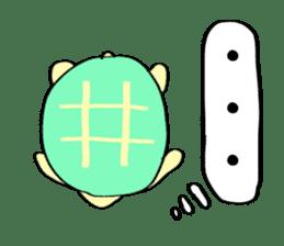 Kamechan's Message  English version sticker #7412923