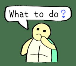 Kamechan's Message  English version sticker #7412925