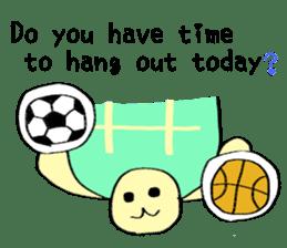 Kamechan's Message  English version sticker #7412928