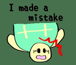 Kamechan's Message  English version sticker #7412933