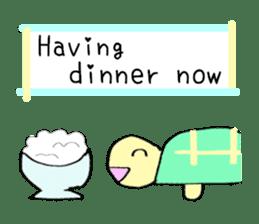Kamechan's Message  English version sticker #7412938