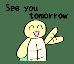 Kamechan's Message  English version sticker #7412941