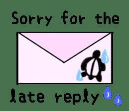Kamechan's Message  English version sticker #7412943