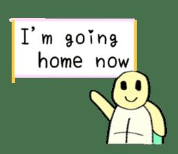 Kamechan's Message  English version sticker #7412953
