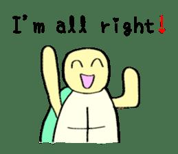 Kamechan's Message  English version sticker #7412955