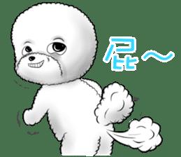 """Bichon Frise """"Noobie"""" Part II sticker #7424259"""