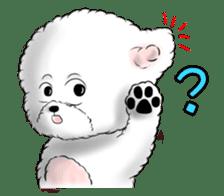 """Bichon Frise """"Noobie"""" Part II sticker #7424261"""