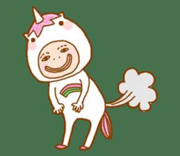 man in the unicorn suit sticker #7429291