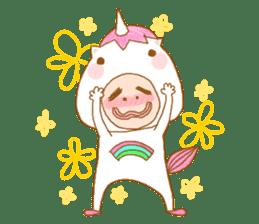 man in the unicorn suit sticker #7429292
