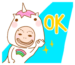 man in the unicorn suit sticker #7429296