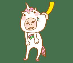 man in the unicorn suit sticker #7429303