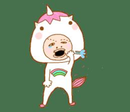 man in the unicorn suit sticker #7429305