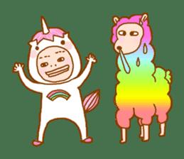 man in the unicorn suit sticker #7429313