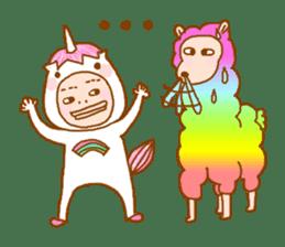 man in the unicorn suit sticker #7429314