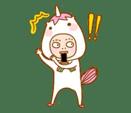 man in the unicorn suit sticker #7429318