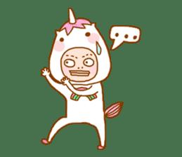 man in the unicorn suit sticker #7429319