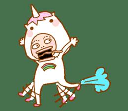 man in the unicorn suit sticker #7429320