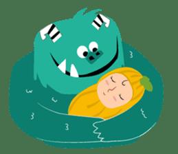 Timun Mas & The Green Monster sticker #7431326