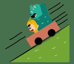 Timun Mas & The Green Monster sticker #7431345