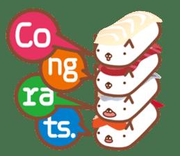 NIGIRI NEKO sushi-cats  (English) sticker #7438794