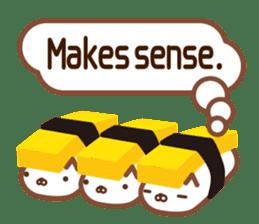 NIGIRI NEKO sushi-cats  (English) sticker #7438796