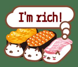NIGIRI NEKO sushi-cats  (English) sticker #7438797