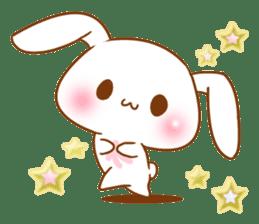Moonlit night Child rabbit. Glitter! sticker #7440052